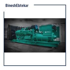 Sahand factory project, Cummins diesel generator machine